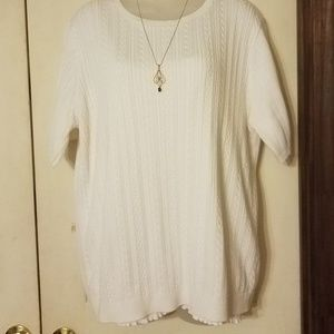 Vintage Alfred Dunner Short Sleeve Sweater